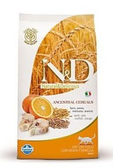 N&D LG CAT ADULT Codfish &Orange 300g