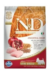 N&D LG DOG Adult Mini Chicken&Pomegranate 2,5kg